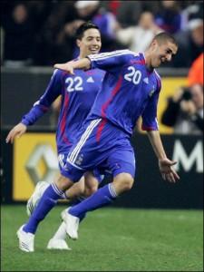 Nasri et Benzema cartonnent dans leur clubs